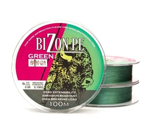 Шнур Bratfishing Bizon Pe Green 100m